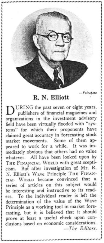 R.N. Elliott Financial World Magazine